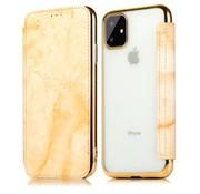 ShieldCase® Marble Gold iPhone 12 Wallet flip case