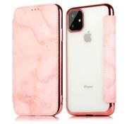 ShieldCase® Marble Rose Gold iPhone 12 Wallet flip case