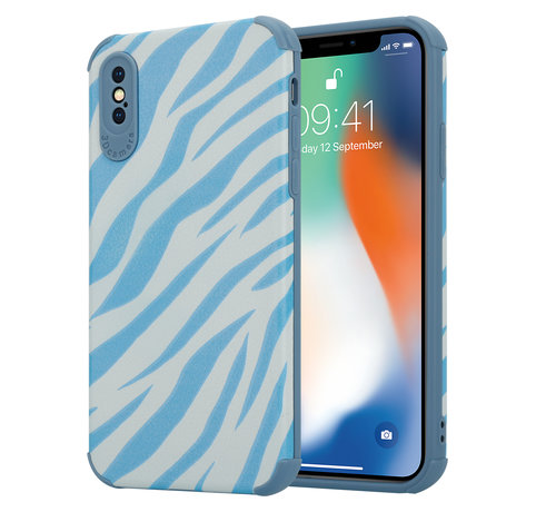 ShieldCase® ShieldCase Blue Zebra iPhone X / Xs case