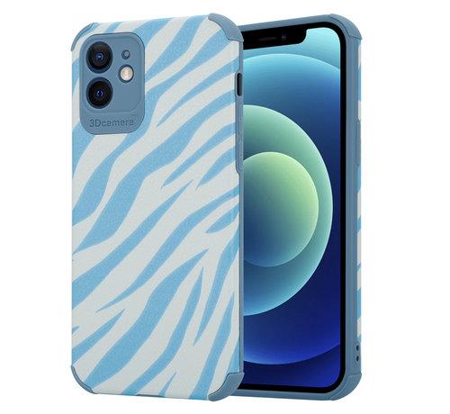 ShieldCase® ShieldCase Blue Zebra iPhone 12 case