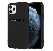 ShieldCase® iPhone 11 Pro siliconen hoesje met pasjeshouder (zwart)