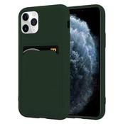 ShieldCase® iPhone 11 Pro siliconen hoesje met pasjeshouder (donkergroen)