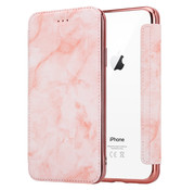ShieldCase® Marble Rose Gold iPhone Xr Wallet flip case