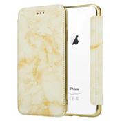 ShieldCase® Marble Gold iPhone Xr Wallet flip case
