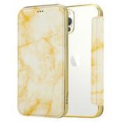 ShieldCase® Marble Gold iPhone 12 Pro Wallet flip case