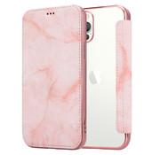 ShieldCase® Marble Rose Gold iPhone 12 Pro Wallet flip case