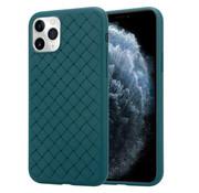ShieldCase® iPhone 12 Pro zacht geweven hoesje (groen)