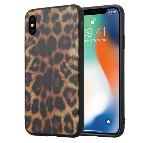 ShieldCase® ShieldCase Brown Panther iPhone X / Xs hoesje