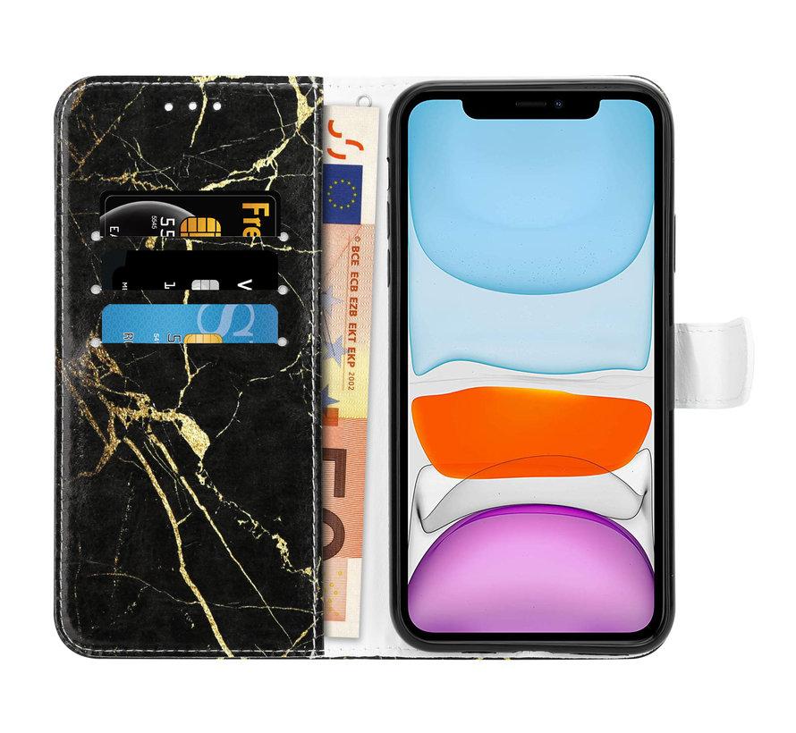 Shieldcase Amazing Black Marmer iPhone 11 Bookcase