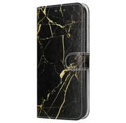 ShieldCase® Amazing Black Marmer iPhone 12 Bookcase
