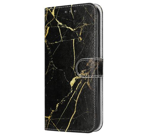 ShieldCase® Shieldcase Amazing Black Marmer iPhone 12 Pro Bookcase