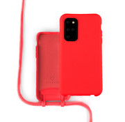 Coverzs Silicone case met koord Samsung Galaxy S20 Plus (Rood)
