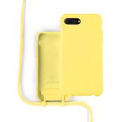 Coverzs Silicone case met koord iPhone 7/8 Plus (Geel)