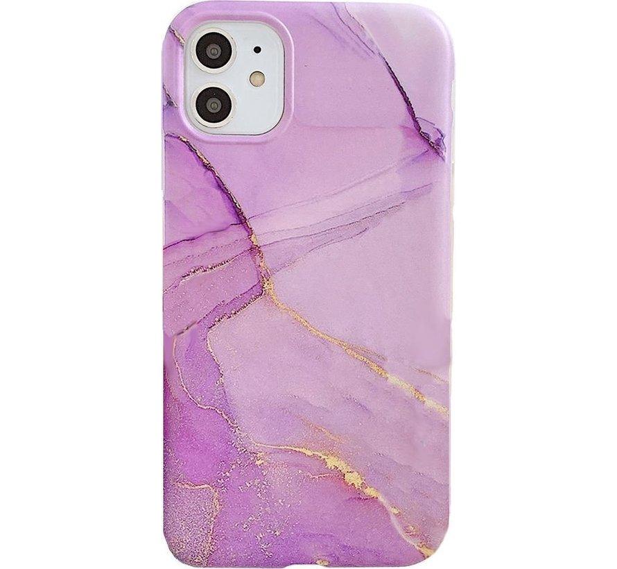 ShieldCase iPhone 11 Pro Max Marmer hoesje (paars)