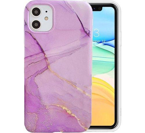 ShieldCase® ShieldCase iPhone 11 Pro Max Marmer hoesje (paars)