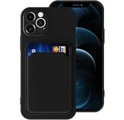 ShieldCase® iPhone 13 Pro siliconen hoesje met pasjeshouder (zwart)