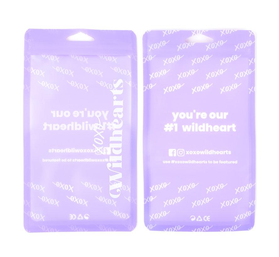 xoxo Wildhearts Pantone siliconen hoesje Samsung Galaxy A71 (paars)