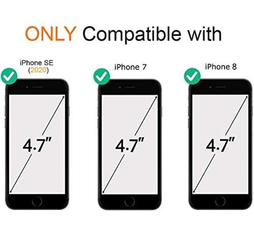 ShieldCase Marmer paars iPhone 7 / 8 hoesje met camerabescherming (paars)