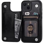 ShieldCase® iPhone 13 wallet case (zwart)