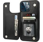 ShieldCase® iPhone 13 Pro Max wallet case (zwart)
