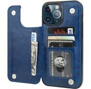 ShieldCase® iPhone 13 Pro Max wallet case (blauw)