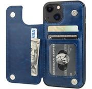 ShieldCase® iPhone 13 wallet case (blauw)