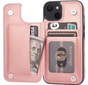 ShieldCase® iPhone 13 wallet case (roze)