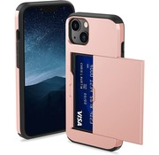 ShieldCase® Kaarthouder case met slide iPhone 13 (roze)