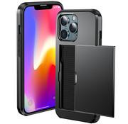 ShieldCase® Kaarthouder case met slide iPhone 13 Pro (zwart)