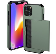 ShieldCase® Kaarthouder case met slide iPhone 13 (groen)