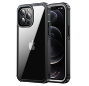 ShieldCase® Drielaags hoesje iPhone 13 Pro (transparant-zwart)