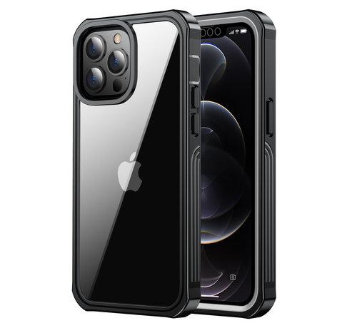 ShieldCase® ShieldCase Drielaags hoesje iPhone 13 Pro (transparant-zwart)