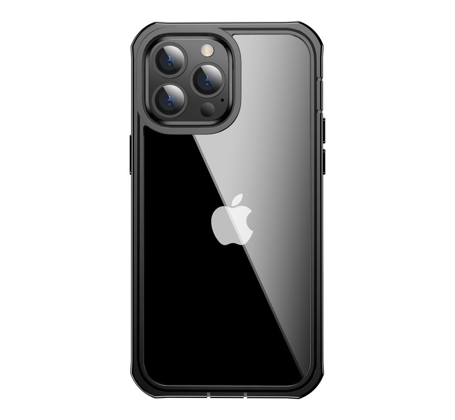 ShieldCase Drielaags hoesje iPhone 13 Pro (transparant-zwart)
