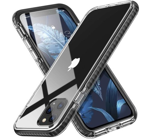 ShieldCase® ShieldCase Bumper case iPhone 11 Pro Max (transparant-zwart)