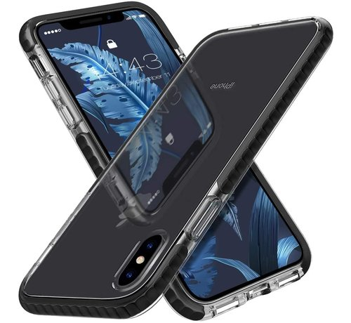 ShieldCase® ShieldCase Bumper case iPhone Xs Max (transparant-zwart)