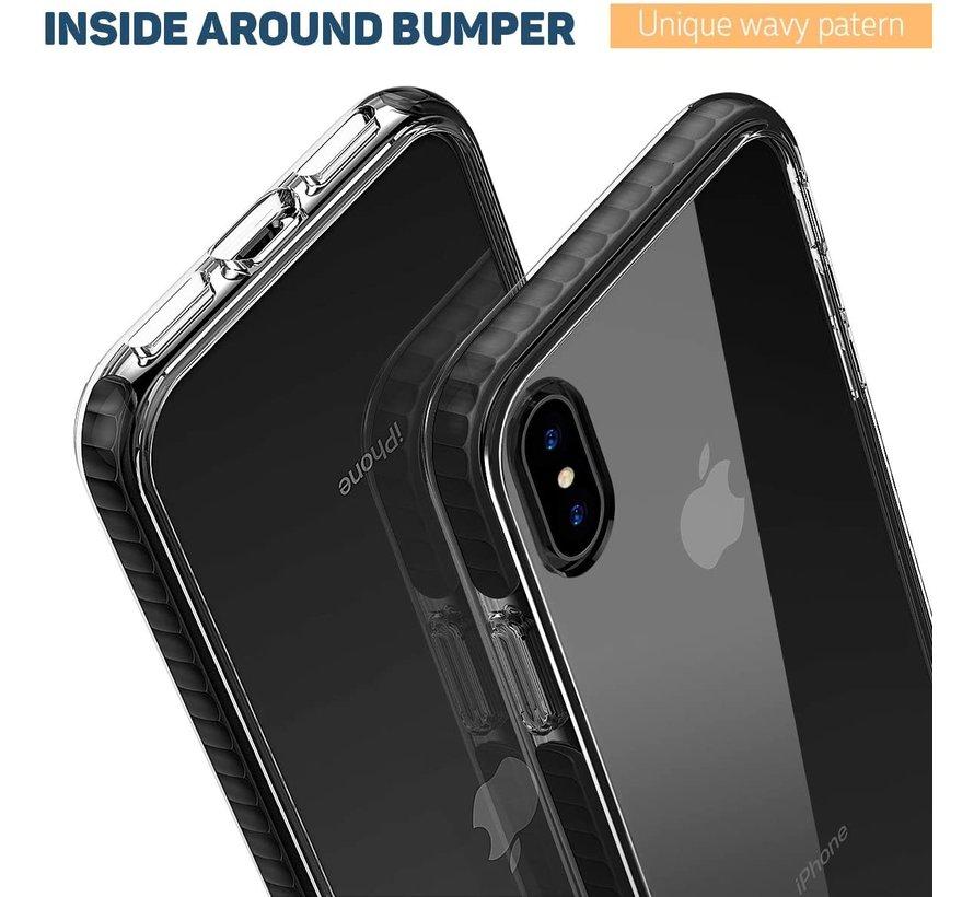 ShieldCase Bumper case iPhone Xs Max (transparant-zwart)