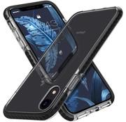 ShieldCase® Bumper case iPhone Xr (transparant-zwart)