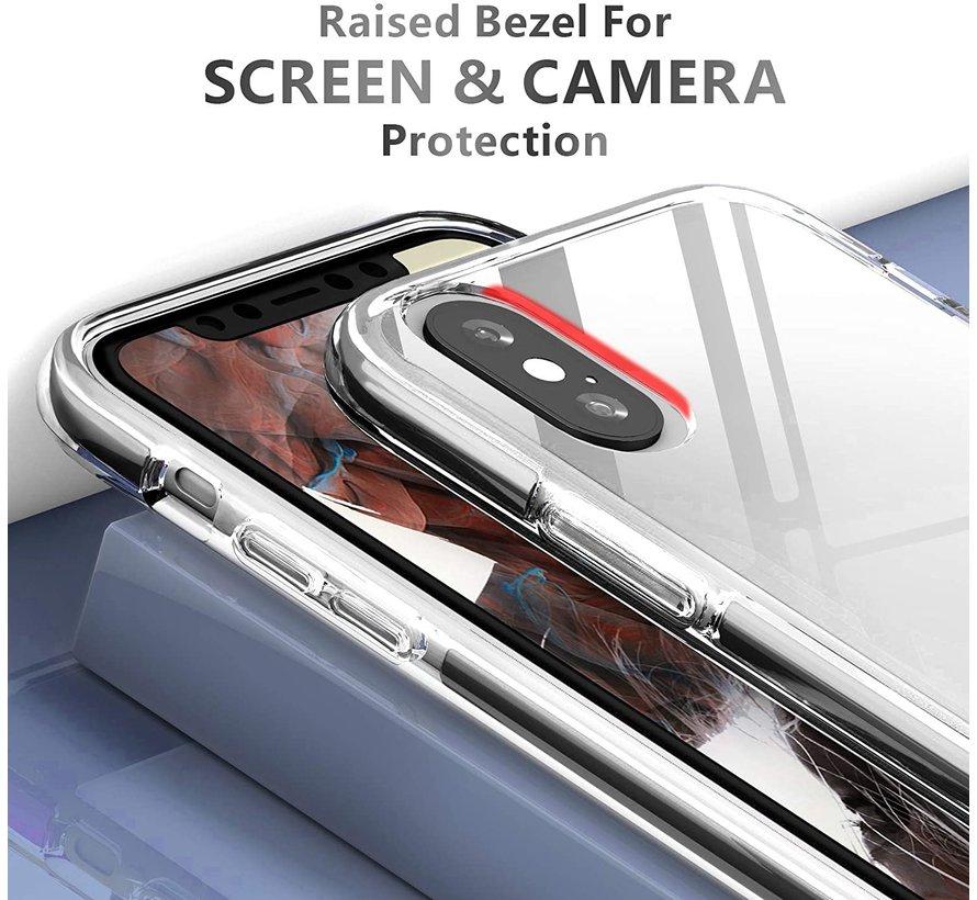 ShieldCase Bumper case iPhone X/Xs (transparant-zwart)