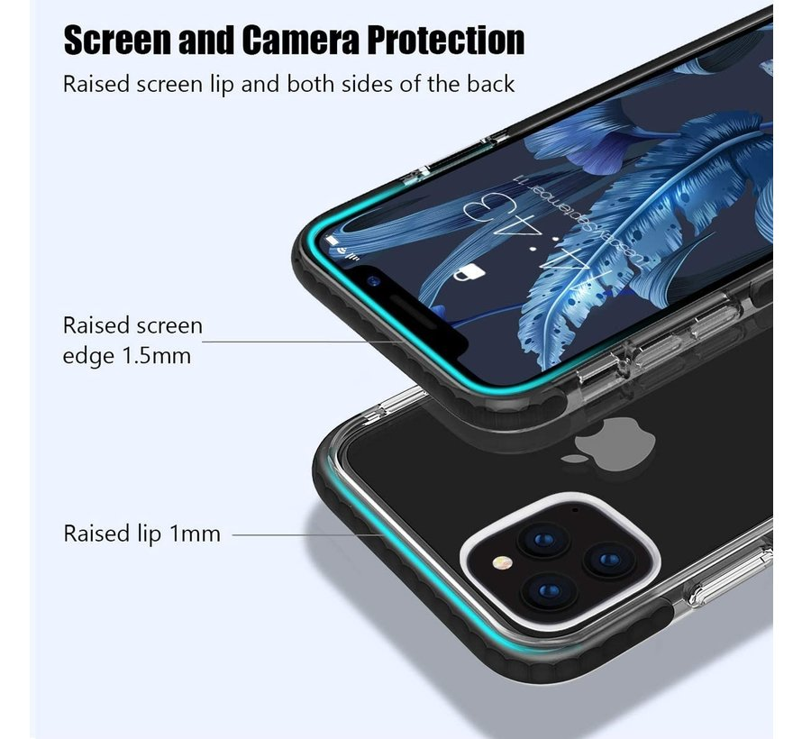 ShieldCase Bumper case iPhone 11 Pro (transparant-zwart)