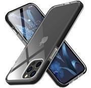 ShieldCase® Bumper case iPhone 12/12 Pro - 6.1 inch (transparant-zwart)