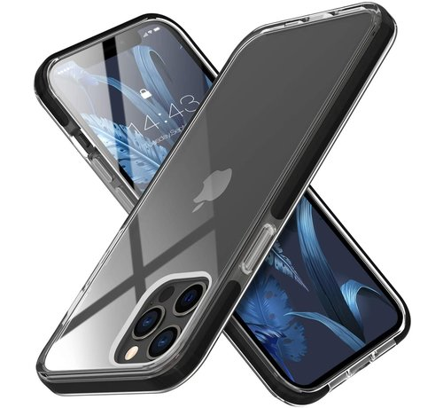 ShieldCase® ShieldCase Bumper case iPhone 12/12 Pro - 6.1 inch (transparant-zwart)
