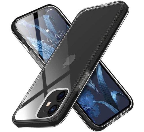ShieldCase® ShieldCase Bumper case iPhone 12 Mini  (transparant-zwart)