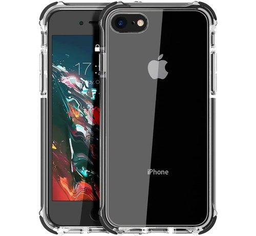 ShieldCase® ShieldCase Bumper case iPhone 7/8/SE 2020 (transparant-zwart)