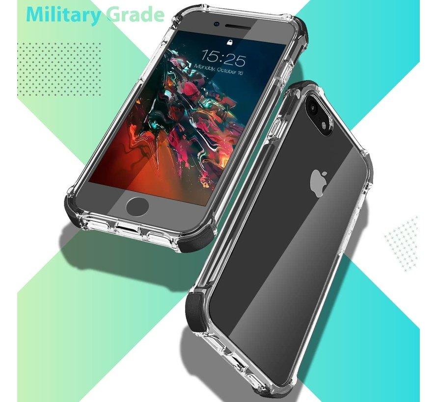 ShieldCase Bumper case iPhone 7/8/SE 2020 (transparant-zwart)