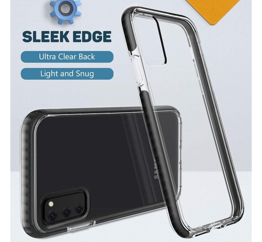 ShieldCase Bumper case Samsung Galaxy Note 20 Ultra (transparant-zwart)