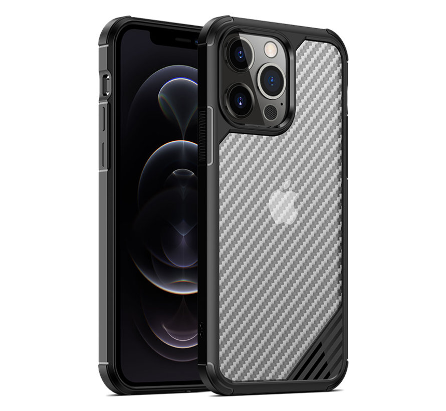 ShieldCase Carbon Shock Case iPhone 13 Pro Max (zwart)