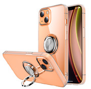 ShieldCase® iPhone 13 TPU hoesje met ring (transparant)