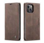 CaseMe Luxe bookcase iPhone 13 (bruin)