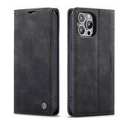 CaseMe Luxe bookcase iPhone 13 Pro Max (zwart)