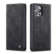CaseMe Luxe bookcase iPhone 13 Pro (zwart)